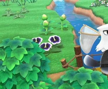 Pansies in Animal Crossing