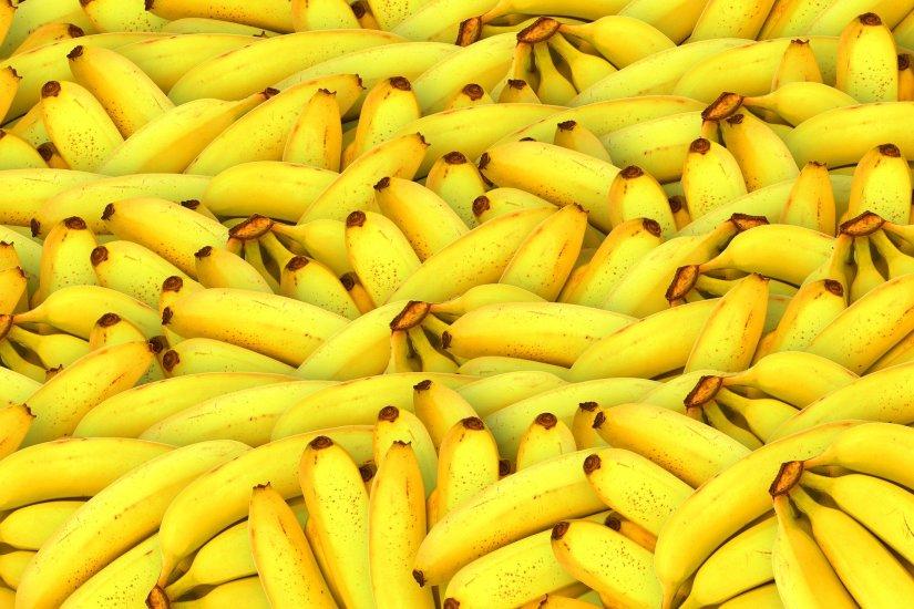 A huge pile of bananas